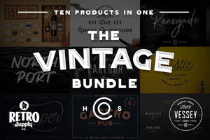 The Vintage Bundle by HSCO Fonts RetroSupply Co
