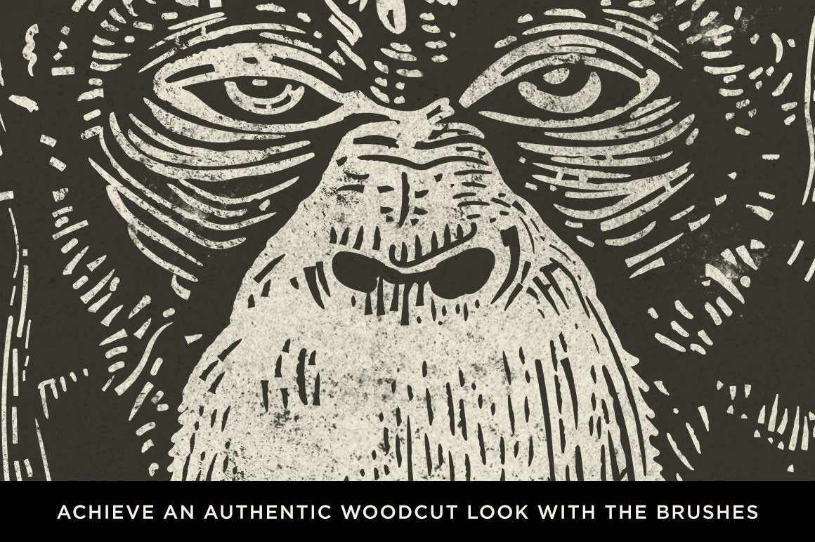 The Woodcut Brush Kit for Affinity Affinity Designer Brushes RetroSupply Co