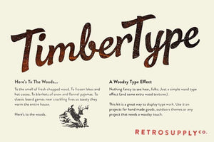 TimberType Adobe Photoshop RetroSupply Co