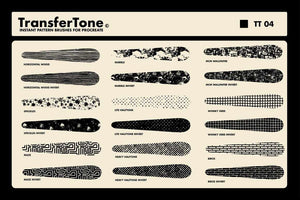TransferTone | Dry Transfer Brushes for Procreate Procreate Brushes RetroSupply Co.