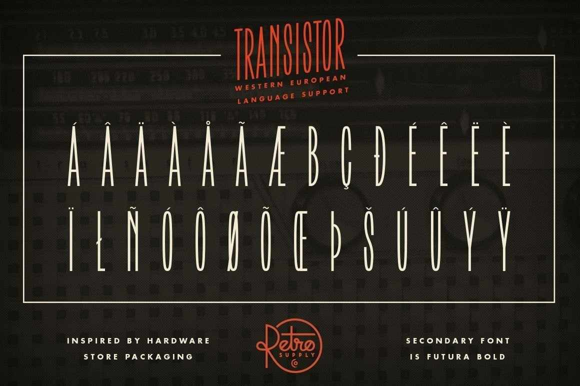 Transistor Fonts RetroSupply Co