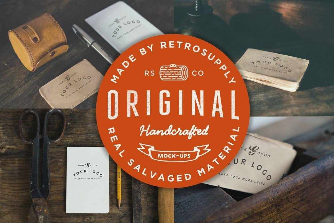 Vintage Handcrafted Mock-Ups Mockups RetroSupply Co