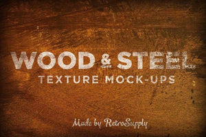 Vintage Wood and Steel Mockups Adobe Photoshop RetroSupply Co
