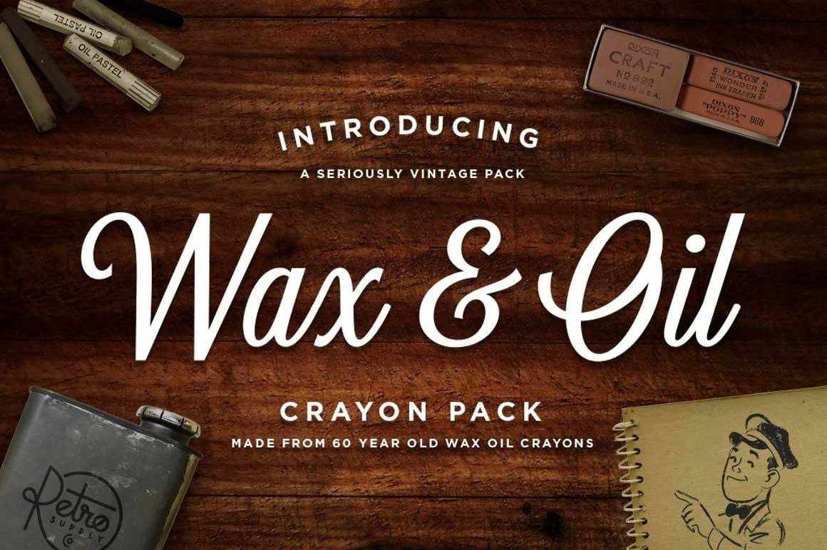 Wax & Oil Vector Brushes for Adobe Illustrator Illustrator Brushes RetroSupply Co