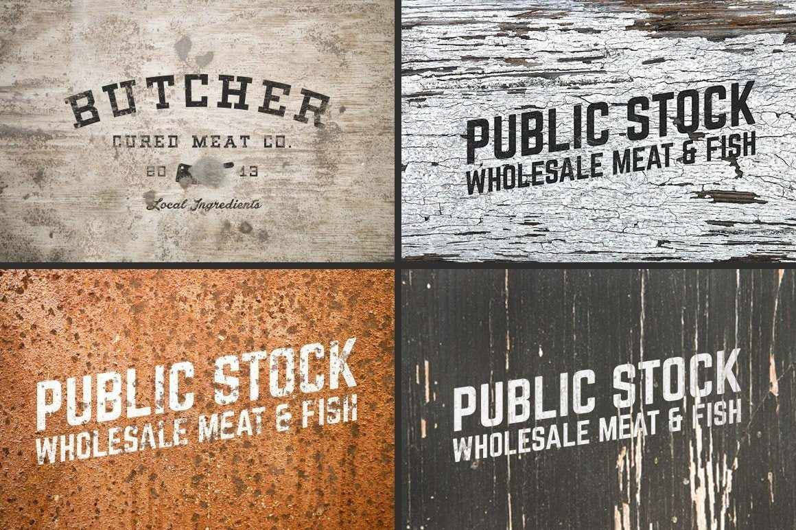 Weathered Mock-Up Templates Adobe Photoshop RetroSupply Co