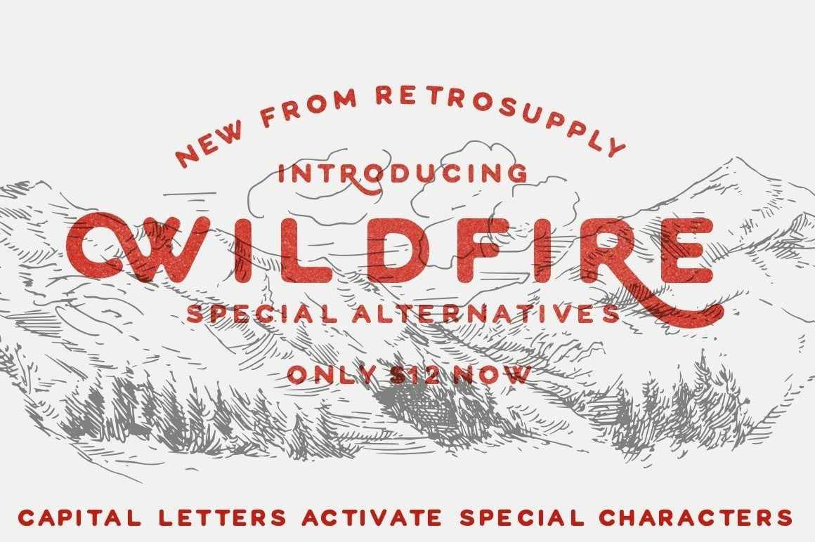 WildFire Font Fonts RetroSupply Co