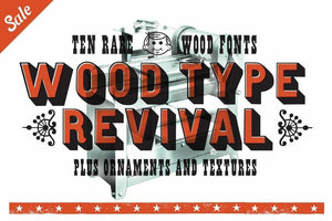 Wood Type Revival Bundle Fonts RetroSupply Co