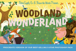 Woodland Wonderland Brush Pack for Procreate Procreate Brushes RetroSupply Co.