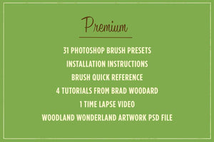 Woodland Wonderland Brush & Tutorial Pack Adobe Photoshop RetroSupply Co