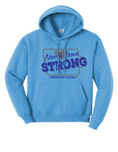 Load image into Gallery viewer, North Iowa Strong Youth Hooded Sweatshirt