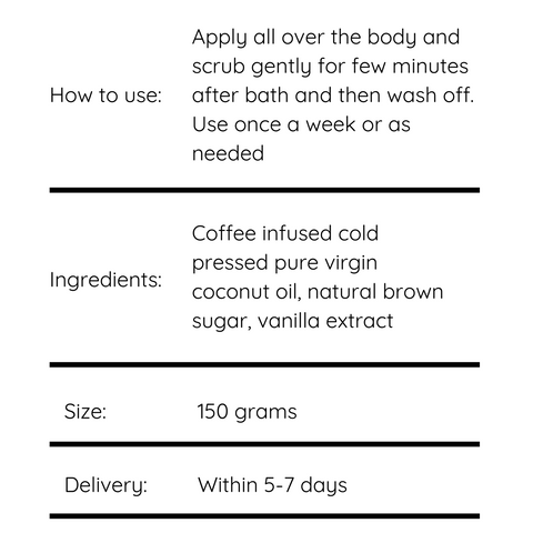 Buy all natural coffee scrub online India