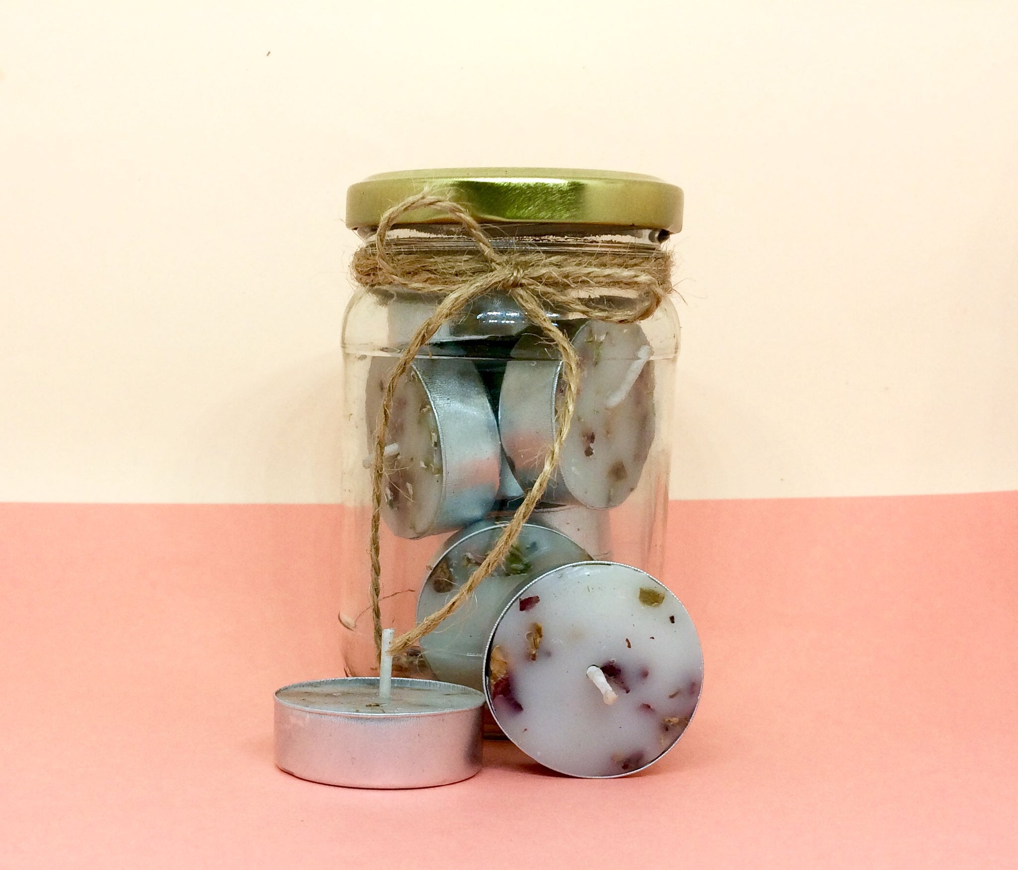 Rose Lavender Petals Infused Tealights