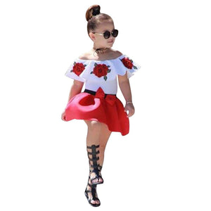 2pcs Fashion Toddler Baby Girls Clothes Set Summer - PG Ecom Shop