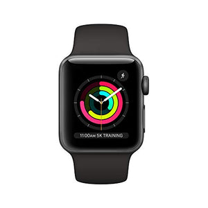 Apple Watch Series 3 (GPS, 38mm) - Space Gray Aluminium Case with Black Sport Band - PG Ecom Shop