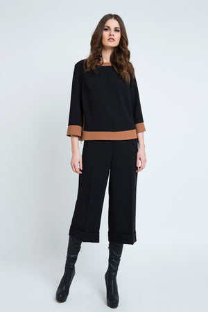 Black Culottes with Turn Up - PG Ecom Shop