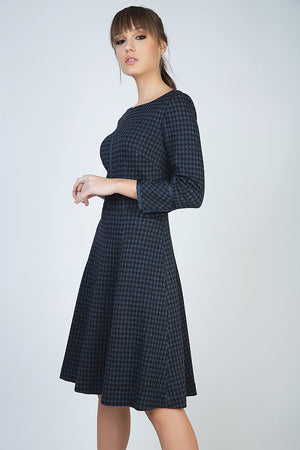Check Fit and Flare Dress - PG Ecom Shop