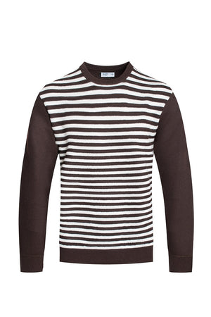 STRIPED CUTOUT KNIT SWEATER - PG Ecom Shop