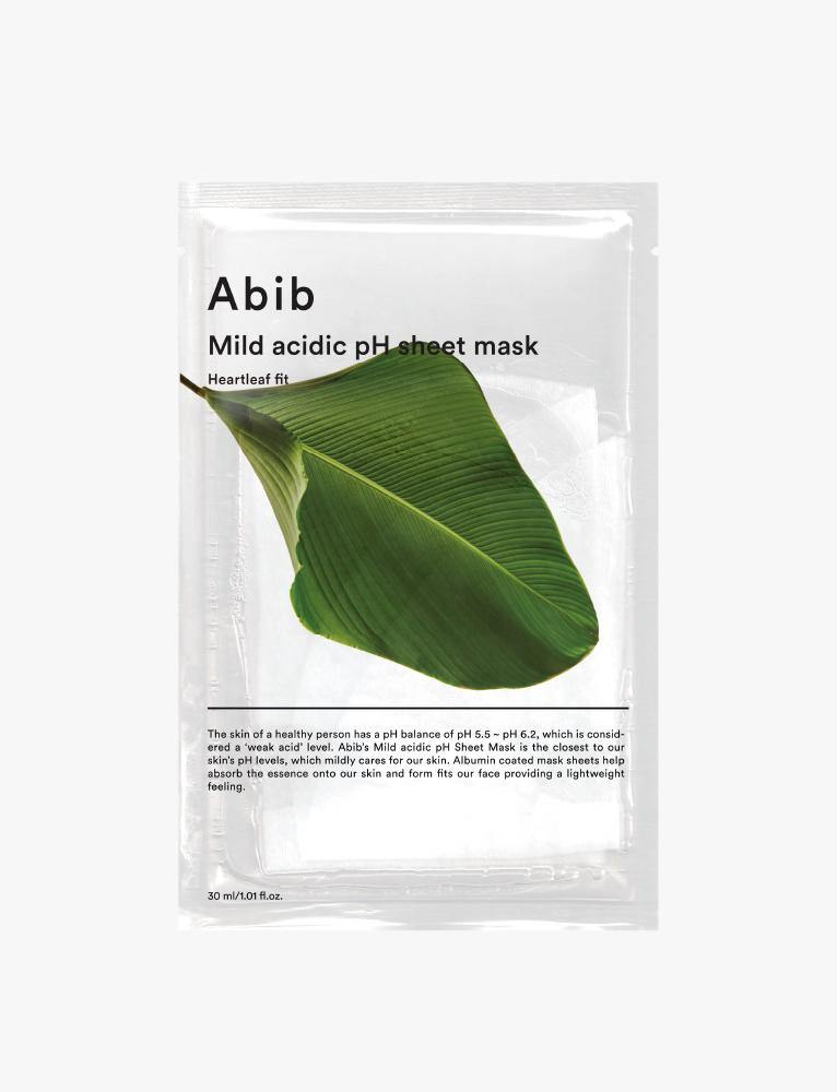 Heart Leaf Fit Mild Acidic pH Sheet Mask (10ea)