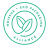 Statement of noissue ecofriendly alliance packaging that is green with two leaves
