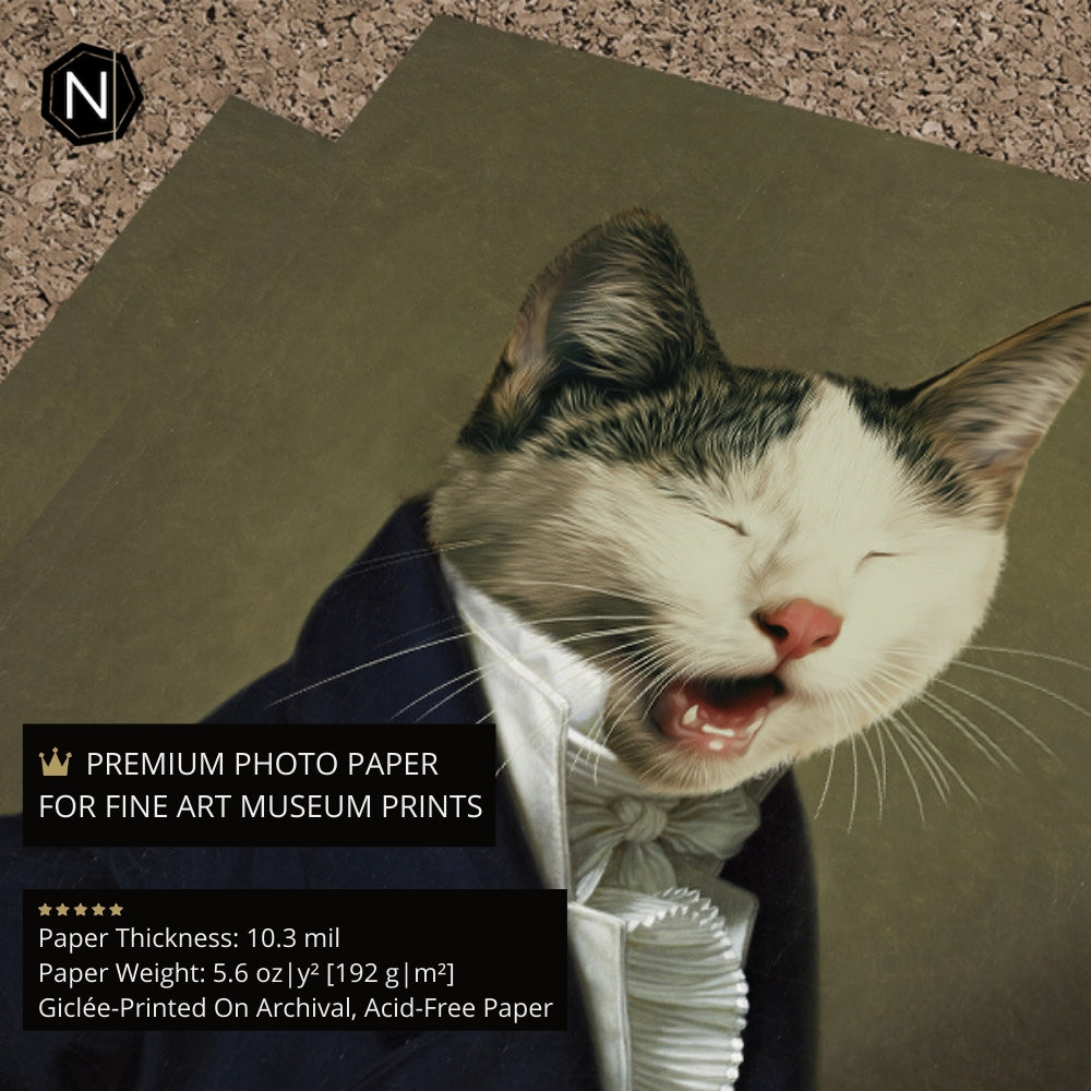 Custom Pet Fine Art Print | Sir Ain't Has Old School Manners