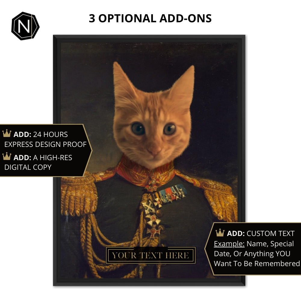 Custom Pet Canvas [Floating Frame] | Lil' Prince Glutton