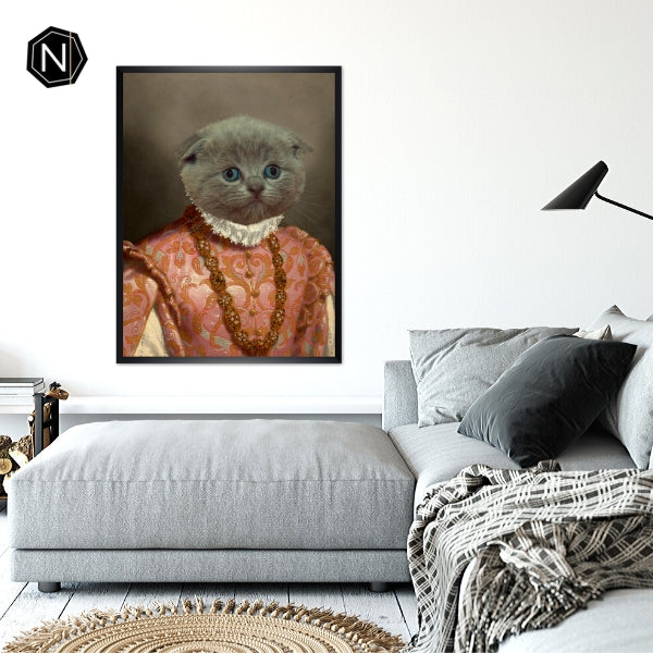 Custom Pet Fine Art Print [Framed] | Milady Drunkin' Love