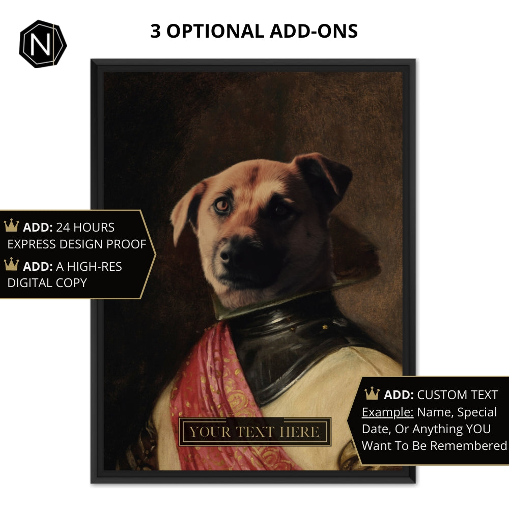 Custom Pet Canvas [Floating Frame] | Milord Chasin' Fun