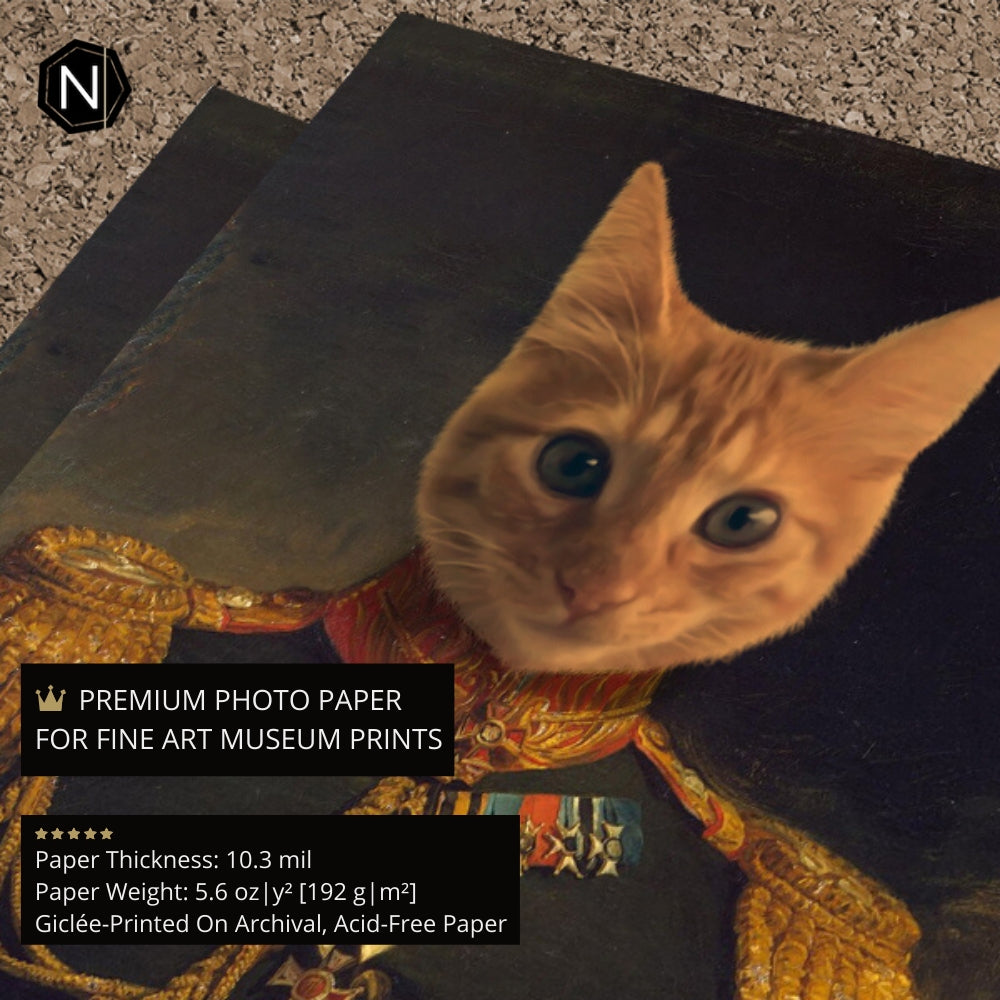 Custom Pet Fine Art Print [Framed] | Lil' Prince Glutton
