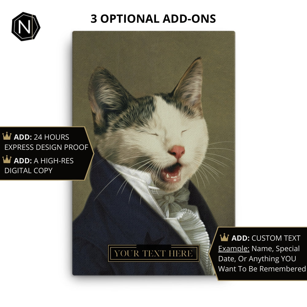 Custom Pet Canvas | Sir Ain't Has Old School Manners