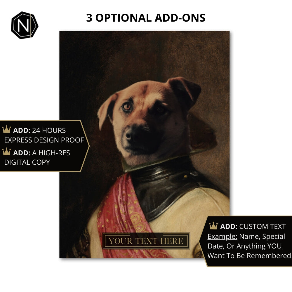Custom Pet Fine Art Print | Milord Chasin' Fun