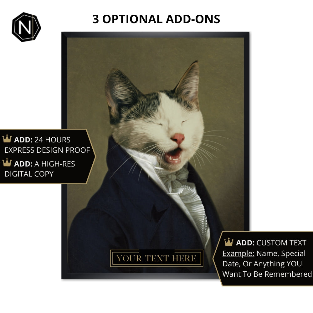 Custom Pet Fine Art Print [Framed] | Sir Ain't Has Old School Manners