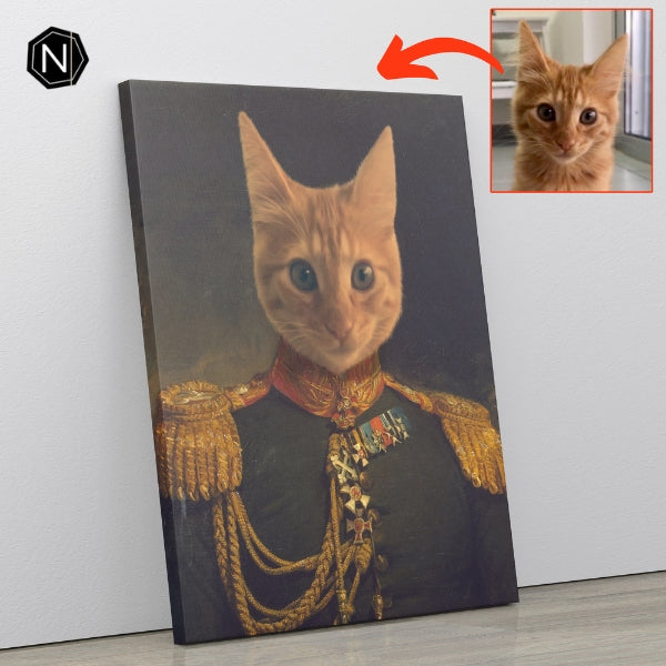 Custom Pet Canvas | Lil' Prince Glutton