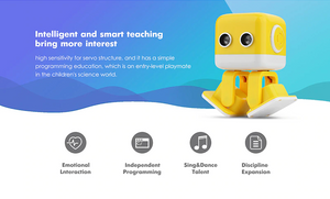 Cubee - The Cute Smart Musical Dancing Robot (programmable / responds to gestures)