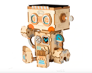 Flower Pot Bot - Wood 3D Puzzle Kit