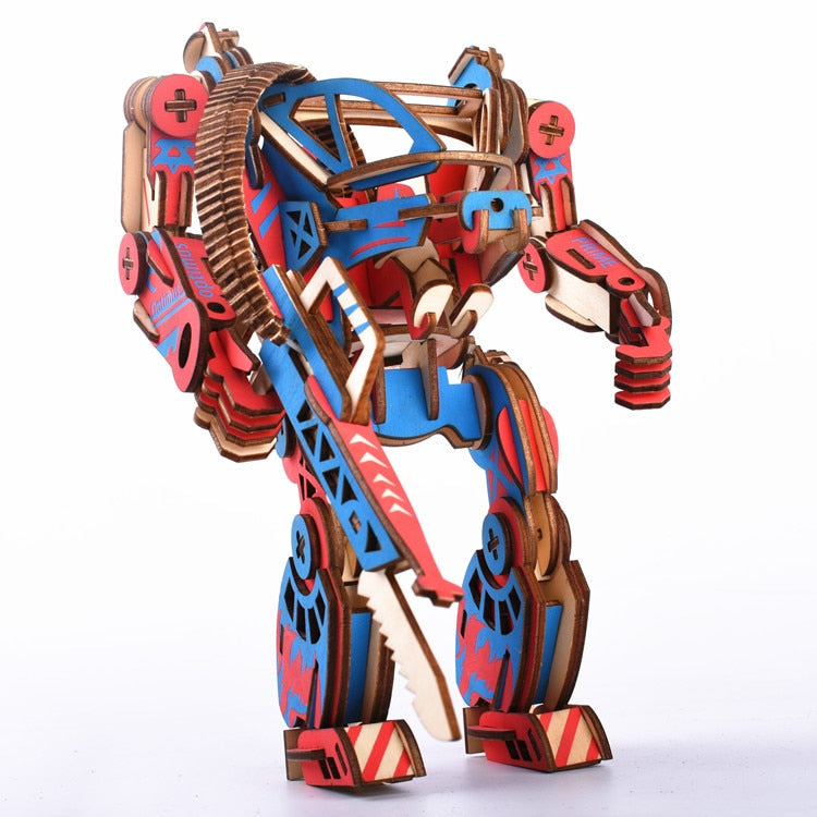 Mecha Bot - DIY Wooden Puzzle