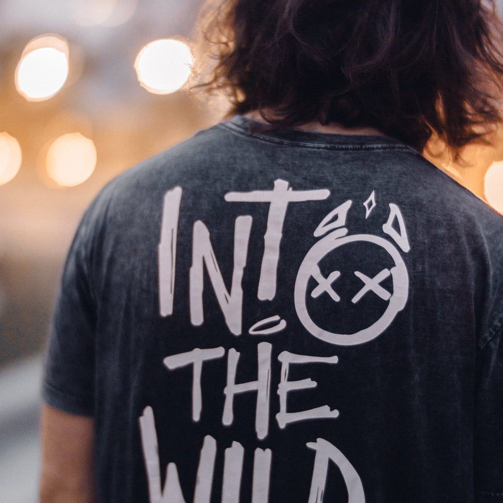 Into The Wild Embroidered Premium Stonewash Tee