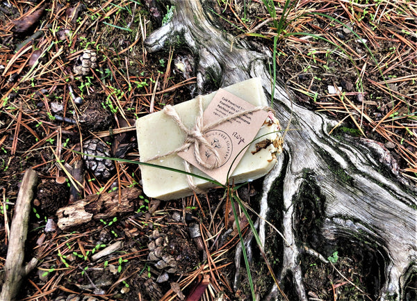 The Guilt Free Soapery soap on forest background