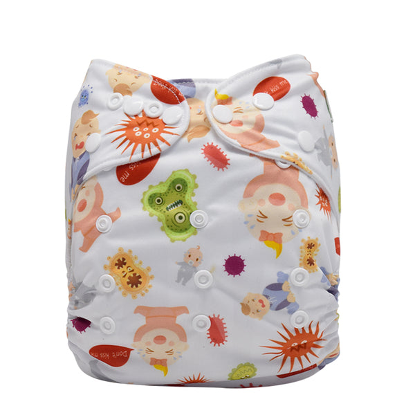 Mumsbest Don't Kiss Me Cloth Diaper Washable Pocket Waterproof Nappies