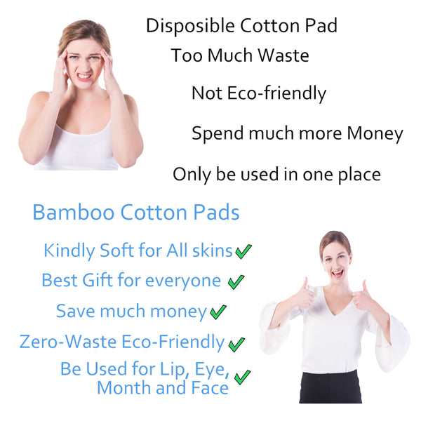 Makeup Remover Pads with wash cotton bag