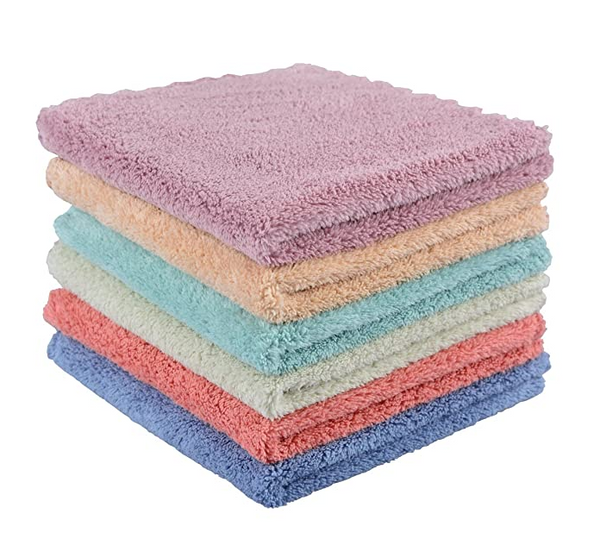 6Pack Face Makeup Remover Cloths Reusable Microfiber Wash Cloth for Face Towels