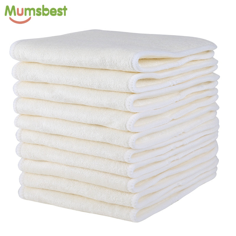 4 Layers Bamboo & Microfibre Inserts For Baby Cloth Diaper Reusable Washable Liners Insert