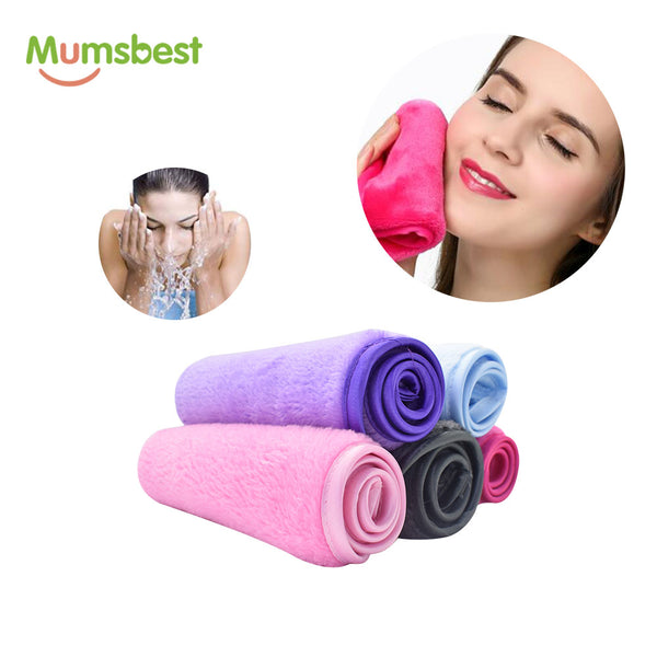 Makeup Remover Cloth 10 Pack - Reusable Microfiber Cleansing Towel,Suitable for All Skin Types,Move Makeup Instantly,Multiple Colours