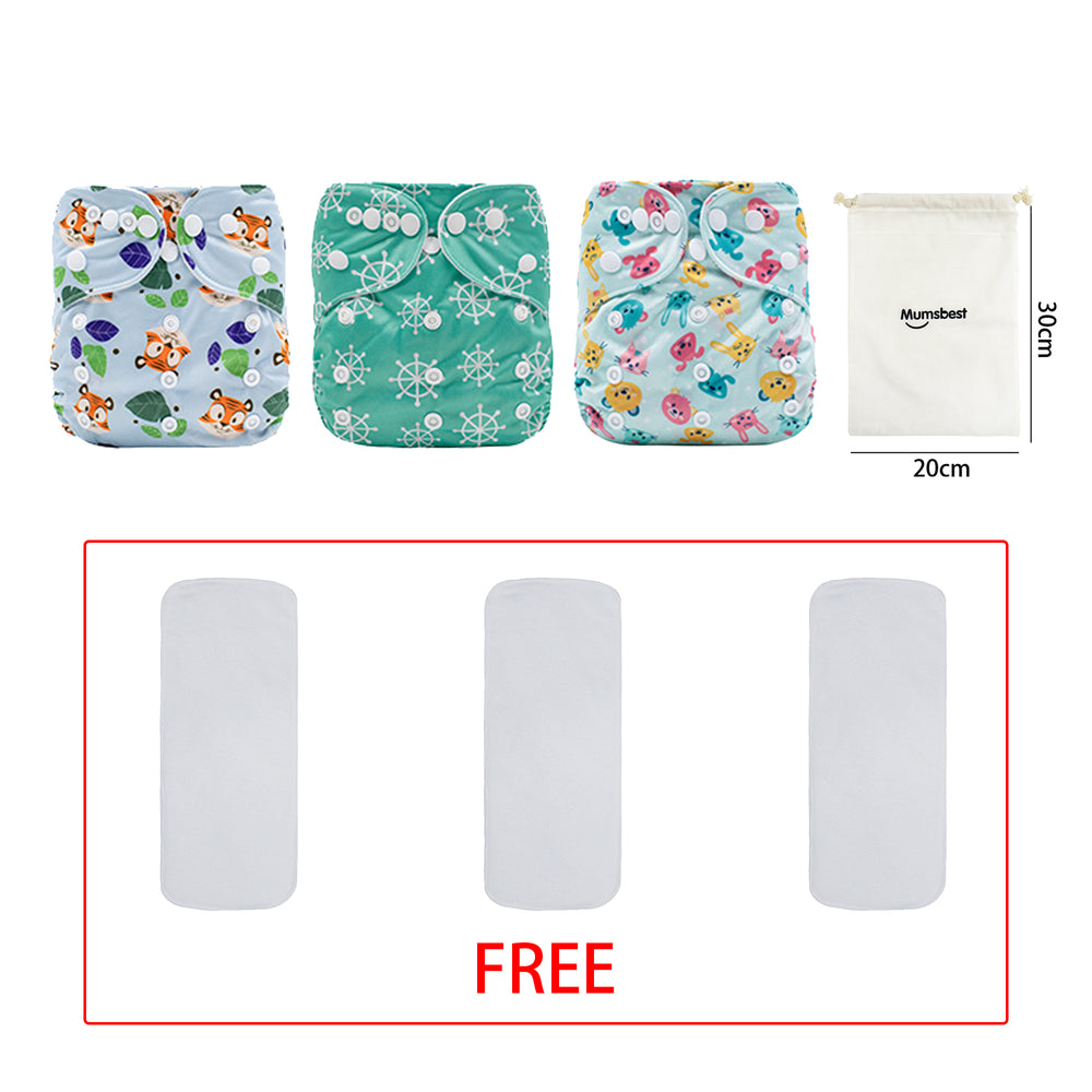 Mumsbest---AI2 Modern Cloth Diaper with wet bags