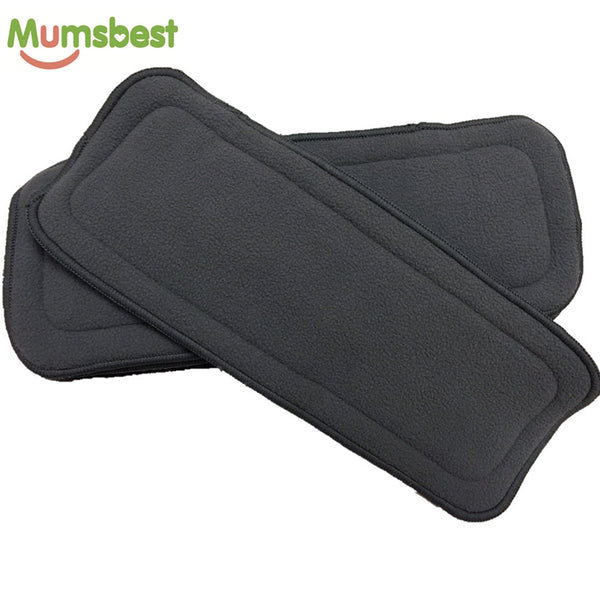 Cloth Diaper Inserts 5 Layers Charcoal Bamboo and Microfiber Nappy Liner