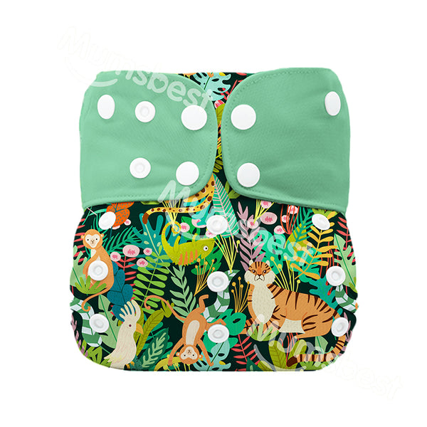 Green Forest Modern Cloth Nappy