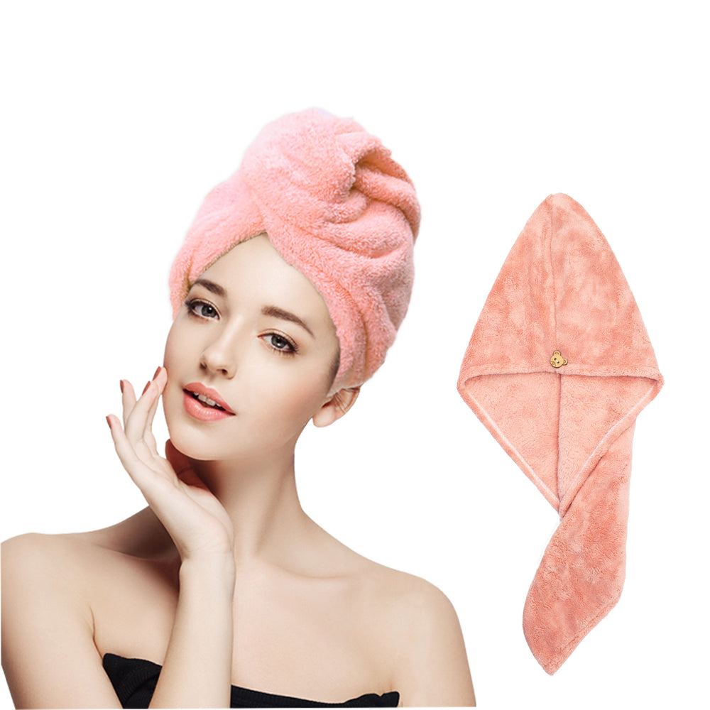 4Pack Microfiber Hair Drying Towel Wrap Women's Absorbent Shower Hair Drying Towel Hair Wrap Drying Cap