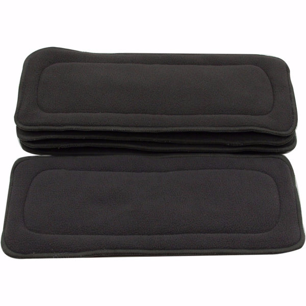 Bamboo Charcoal Inserts For Baby Cloth Diaper Reusable Washable Inserts Liners