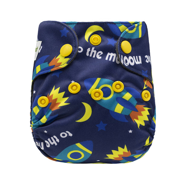 Mumsbest--Newborn AIO bamboo charcoal cloth nappy