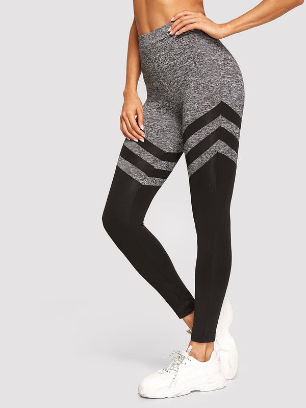 High Waist Color-block Leggings