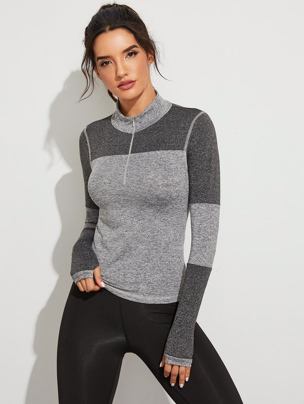 Half Zip Space Dye Sports Sweatshirt